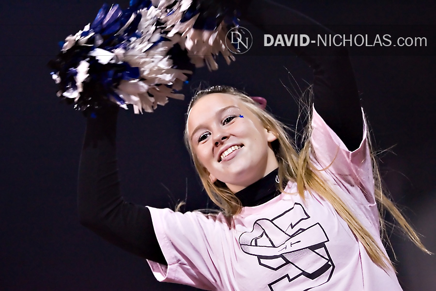 The color pink was seen everywhere as fans, marching band members, and cheerleaders wore pink in honor of Coaches vs. Cancer breast cancer awareness night.
